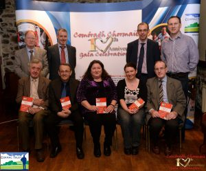 Some of the people who served as Trustees of the Cormac Trust since its inception in 2005. Seated: Paul Doris, Liam Nelis, Bridget McAnallen, Marian Kelly, John Mulgrew. Back: Brendan McAnallen, Martin Grimley, Ruairi Martin, Donal McAnallen. Missing from picture: Prof Peter Mossey, Prof Pascal McKeown, Dr Frank Casey, Dr Gareth Loughrey, and Henry Daly